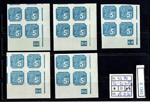 (E1343) B&M. Nr. 43** VBE-4  Zeitungsmarken mit Plattennummern
