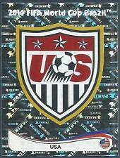 PANINI WORLD CUP 2014- #545-UNITED STATES-USA TEAM BADGE-SILVER FOIL