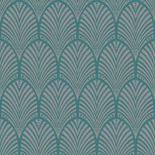Gatsby Art Déco papier-peint Sarcelle - Holden décor 65253 Metalique LUISANT