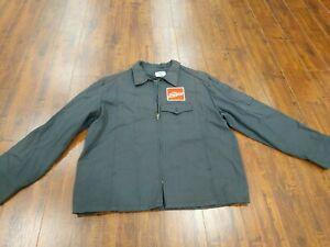 Coca Cola Mens Work Jacket coat Vtg riverside Long sleeve 44 M