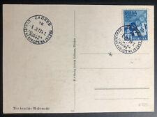 1941 Zagreb Croatia Patriotic Postcard Cover German Wehrmacht Air force