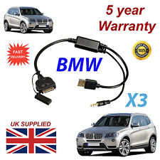 BMW X3 Series(611204407) For Apple 3GS 4 4S iPhone iPod USB & 3.5mm Aux Cable