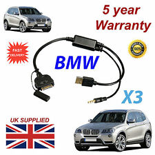 BMW x3 SERIE (611204407) per Apple 3gs 4 4s IPHONE IPOD USB CAVO AUX & 3.5mm