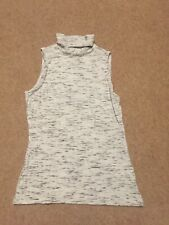 H&M Womens Creamy White, Black ,Grey Top - Sleeveless - Stretch Fit Size S