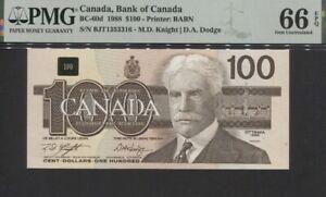 TT PK BC-60d 1988 CANADA BANK OF CANADA $100 PMG 66 EPQ GEM UNCIRCULATED!