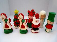 Lot of 7 Vintage W & F Gurley Wax Candy Containers Air Fresheners Christmas