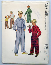 VINTAGE SEWING PATTERN MCCALL'S 8746 SIZE 10 BOY'S JACKET + TROUSERS 1951