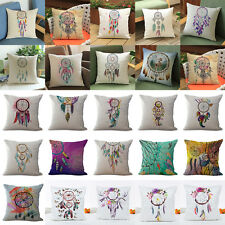 Dream Catcher Linen Cotton Cushion Cover Pillow Case Home Sofa Bed Car Decor