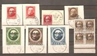 Germany Bavaria LOT Sc 109 111 152 to 155 196 193 used on piece  VF SEE SCAN