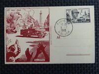 FRANCE MK 1948 GENERAL LECLERC MAXIMUMKARTE CARTE MAXIMUM CARD MC CM c1893
