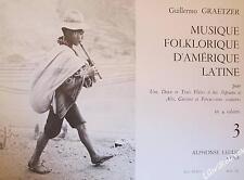 Musique Folklorique d'Amerique Latine -Flûte Guitare Et Percussions Volume 3
