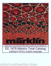 EE 1978 E Marklin Total Catalog 1978 EXC Excellnt Condition has 3150 Northlander