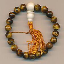 Bracelet Oeil de Tigre Perles Pierre Précieuse Gourou Stupa 76