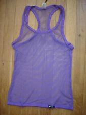 Camiseta de tirantes violeta talla M rejilla transparente puro sexy gay Ref M10