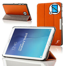 Leather Orange Smart Case Cover Samsung Galaxy Tab E 9.6 T560 Screen Prot Stylus