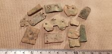 Nice lot of Med. to Post Medieval strap end parts found in Britain 1970s L60t