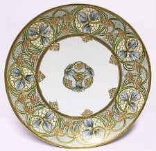 Antique Noritake Nippon Gold Moriage Art Nouveau Cabinet Plate, Green RC Mark
