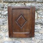 17TH CENTURY, HAND CARVED OAK WALL PANEL, INCISED DIAMOND DECORATION, 032168