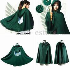 Cosplay Attack On Titan Shingeki No Kyojin Anime Cloak Cape Costume Choose Size