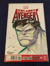 Uncanny Avengers #1 Blank Sketch Cover Incredible Hulk by Sajad Shah NO CGC
