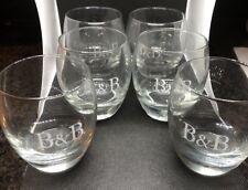 Six B&B Liqueur Original 100% Glasses Set Of 6 New , Barware