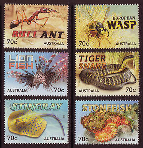 AUSTRALIA 2014 THINGS THAT STING SET OF 6 UNMOUNTED MINT
