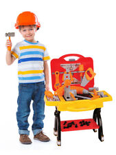 Kid Toy Tool Plastic Set Box Workbench Pretend Play Boy Girl Drill Learning Game