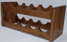 Solid Dark Oak Wine Rack Bottiglia 10