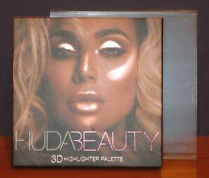 Huda Beauty 3D Highlighter Palette Pink Sands Edition 4 Shades $45 NIB