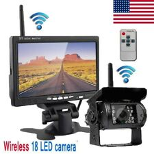 7 INCH LED TFT MONITOR SCREEN + REAR VIEW BACKUP CAMERA SYSTEM FOR BUS TRUCK RV