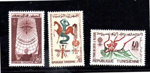 TUNISIA #404-406  1962 WHO DRIVE TO ERADICATE MALARIA  MINT VF NH O.G