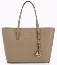 NWT MICHAEL KORS JET SET Travel Top Zip Saffiano Leather Tote Bag DARK DUNE $278