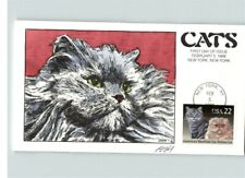 Hand Painted Cats, American Shorthair & Persian Cats, First Day of Issue