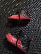 Baby Jordan Retro 12 Bred Flu Game 850000-002 Shoes Size 7C