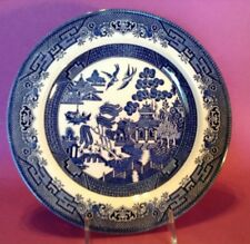 Churchill Blue Willow Dinner Plate - 10 1/4 Inch - England - 8 Are Available