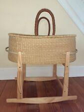 Design Dua - Nap And Pack Basket Bassinet - Natural, changing basket, stand lot