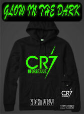 CRISTIANO RONALDO GLOW IN THE DARK CR7 JUVENTUS FORZA SOCCER ADULT KIDS HOODIE