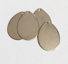 10 pcs of stainless steel teardrop pendant, stamping blank pendant