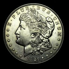 1921 D ~**ABOUT UNCIRCULATED AU**~ Silver Morgan Dollar Rare US Old Coin! #455