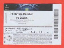 Orig.Ticket  Champions League  2011/12  BAYERN MÜNCHEN - FC ZÜRICH  !!  SELTEN