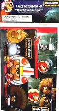 Angry Birds Star Wars 7piece Sketchbook Set Notepad Pencil Pouch Memo Pad Eraser