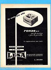 QUATTROR961-PUBBLICITA'/ADVERTISING-1961- LESA - REGISTRATORE A NASTRO