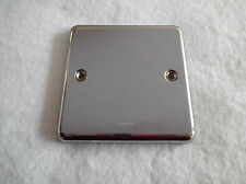 POLISHED STAINLESS STEEL 1 GANG BLANK PLATE BY LEGRAND - NOT FLAT PLATE
