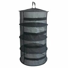 Herb Drying Net Dryer 4 Layer Detachable Breathable Zippers Mesh Flower Rack