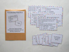 Teacher Made Literacy Center Educational Resource Game Vocabulary Practice