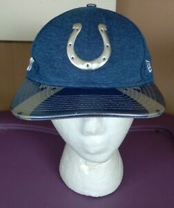 Indianapolis Colts New Era 9FIFTY Snapback Cap Hat pleather bill material