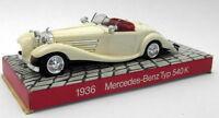 Cursor 1/43 Scale Plastic - CS13 1936 Mercedes Benz Typ 540K White
