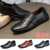 Men's Casual Oxfords Leather Shoes Business Dress Soft Loafers Slip on Moccasins