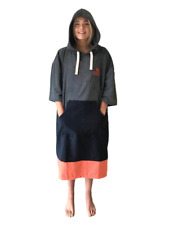 Coral Beach Swimming Changing Robe Poncho Extra-Large Large Medium Small
