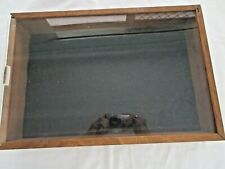 TRADE SHOW COLLECTIBLES SHOW CASE WOODEN FOR JEWELERY OR MEDALS